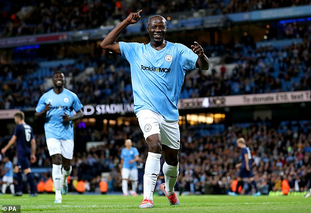 Benjani equalised late on as Manchester City legends drew 2-2 with Premier League All-Stars
