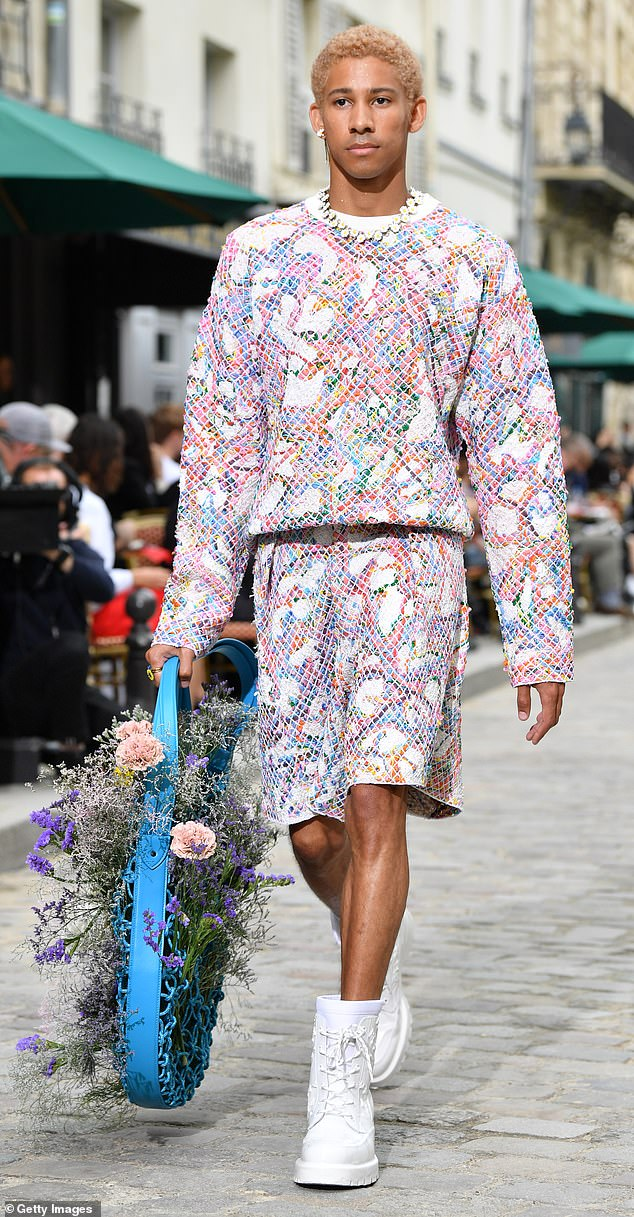 Work it: Keiynan strutted his stuff for Louis Vuitton's Spring Summer 2020 Menswear Collection in Paris on June 20