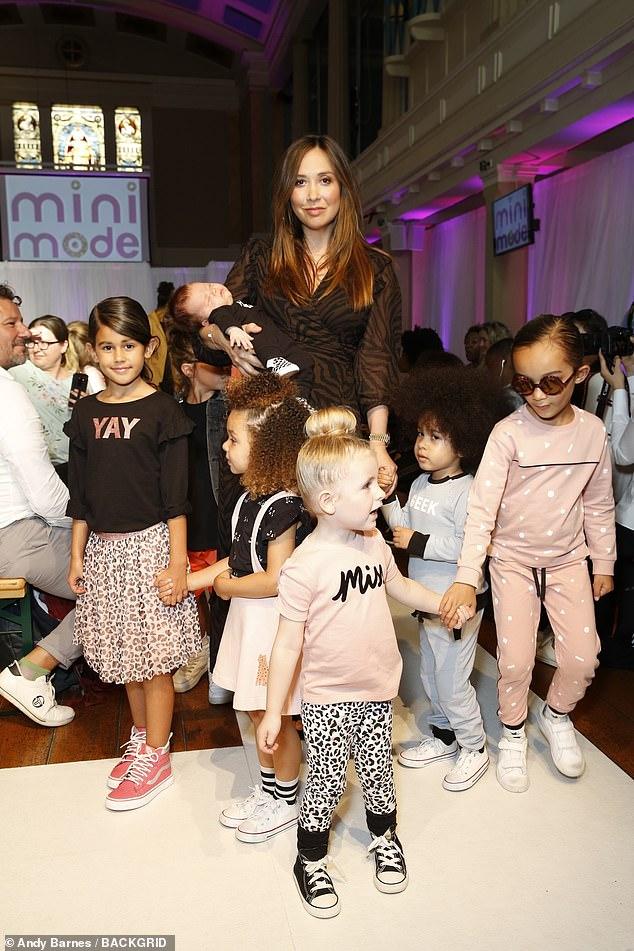 Fashion mogul: Myleene was on hand to promote her own range of Children's clothing known asMy K by Myleene Klass