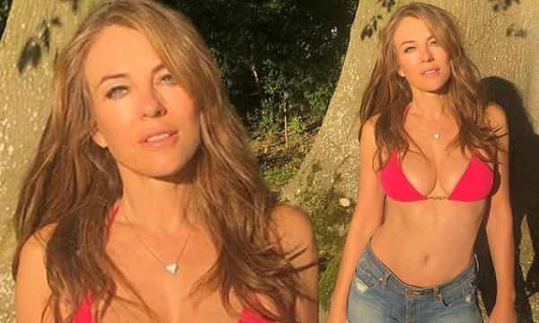 Elizabeth Hurley, 54, puts on a VERY busty display in Instagram snap