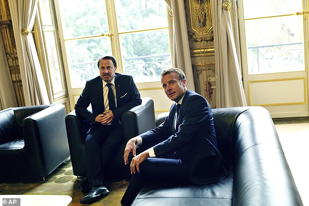 The French and Luxembourg premiers posed for pictures together amid fears the calculated insult to Mr Johnson has fueled Eurosceptic sentiment in the UK