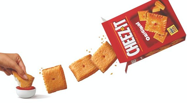 Crave-worthy: The new snack is comprised of four cheese-flavored squares, each filled with either cheese or pepperoni and cheese, plus a side of marinara dipping sauce