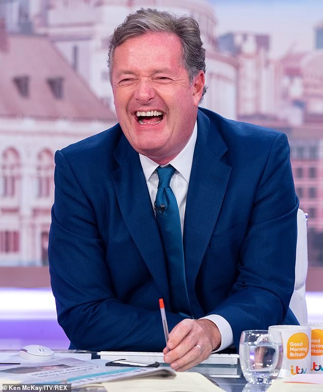 Pay up!Her co-host Piers Morgan has previously joked he will do I'm A Celebrity... Get Me Out of Here! for £5 million after Ant and Dec said that he 'keeps wriggling out' of it (pictured in September)