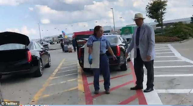 A parking lot attendant (left) in a Cincinnati airport is said to have called the police on a limo driver (right) who parked the car in a restricted area