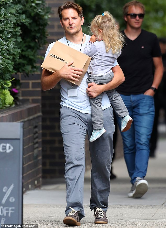 Good daddy:Bradley Cooper has one of the most enviable careers in Hollywood. But the 44-year-old actor clearly is most proud of his little girl Lea De Seine Shayk Cooper as he doted on her while in New York City on Friday