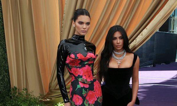 Kim Kardashian and Kendall Jenner on Emmy Awards red carpet
