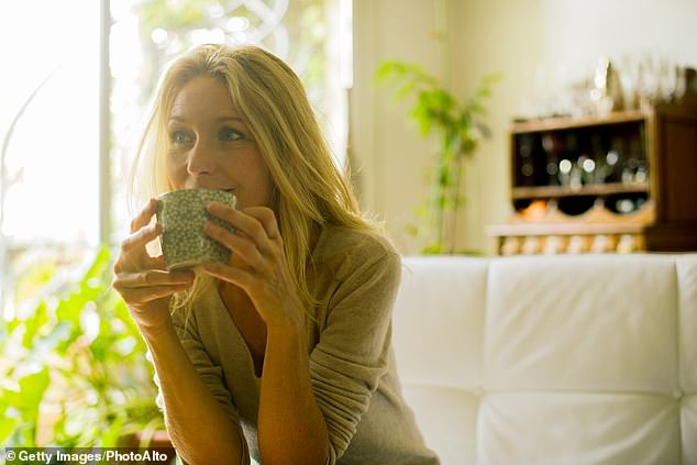 Lastly, if you're stuck thinking your morning brew is bad for your teeth and waistline, think again (stock image)