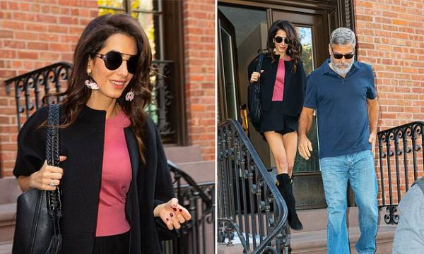 George and Amal Clooney step out in NYC on 5th wedding anniversary