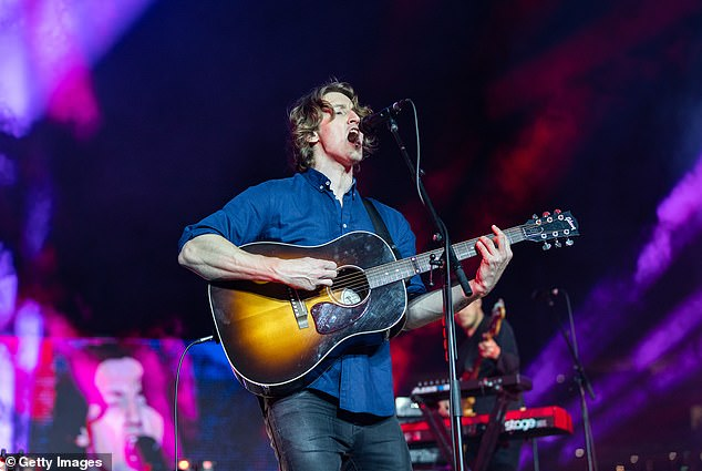 Lighting up the stage! Singer Dean Lewis brought down the house as he performed at the AFL Grand Finale pre-show in Melbourne on Saturday