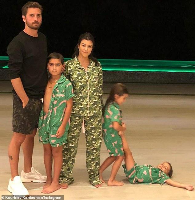Making it work:Kourtney and Scott broke up in 2015 but have maintained an amicable co-parenting relationship, even holidaying together with their children