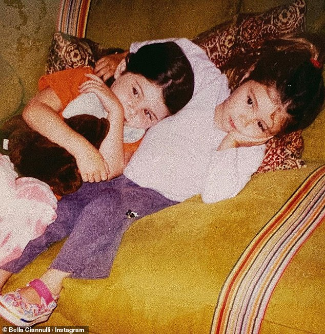 Wishing well:Bella shared a throwback post of herself and her sister as toddlers on her Instagram account, tagging the birthday girl