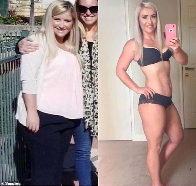 The Healthy Mummy runs a 28 day weight loss challenge which includes meal plans and recipes. Perth-based mother Elle Temple (pictured) lost almost 26kg in 16 months