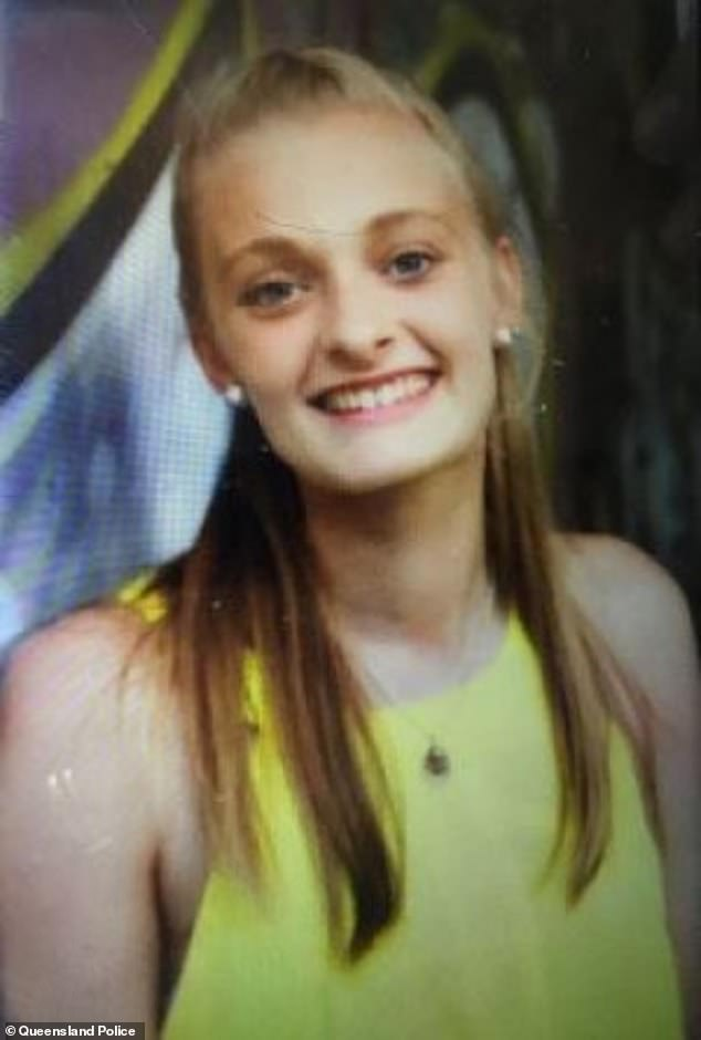 A 16-year-old girl named Xanthia (pictured) went missing in the Ipswich area on Saturday morning