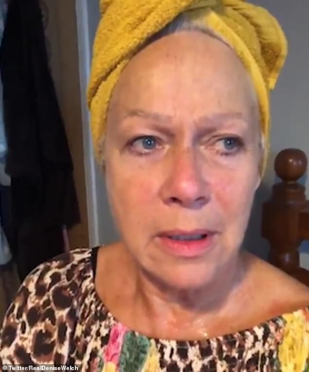 Honest:Denise Welch, 61,opened up about an episode of clinical depression in a candid video shared to Twitter on Sunday