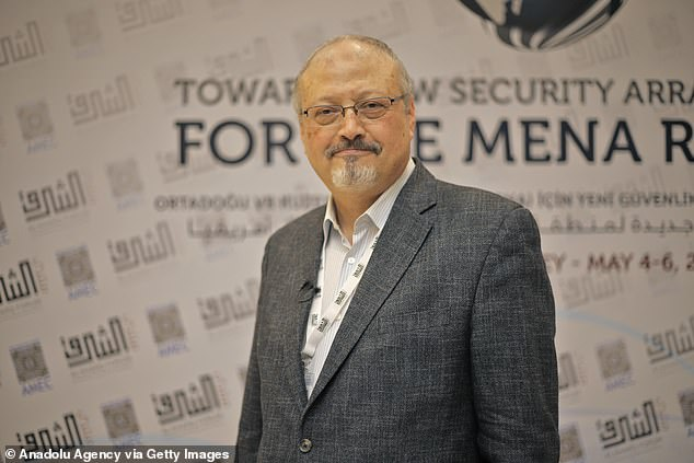 Jamal Khashoggi (pictured in Istanbul months before his death) was murdered in the Saudi consulate in Istanbul after entering the building one year ago today