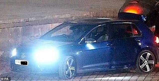 A photograph of a navy blue Volkswagen Golf R has been released by Thames Valley Police.