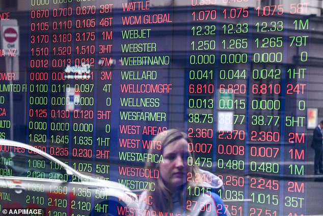 The Australian share market has lost $70billion in just two days over fears of a global recession (pictured is the Australian Securities Exchange building in Sydney)