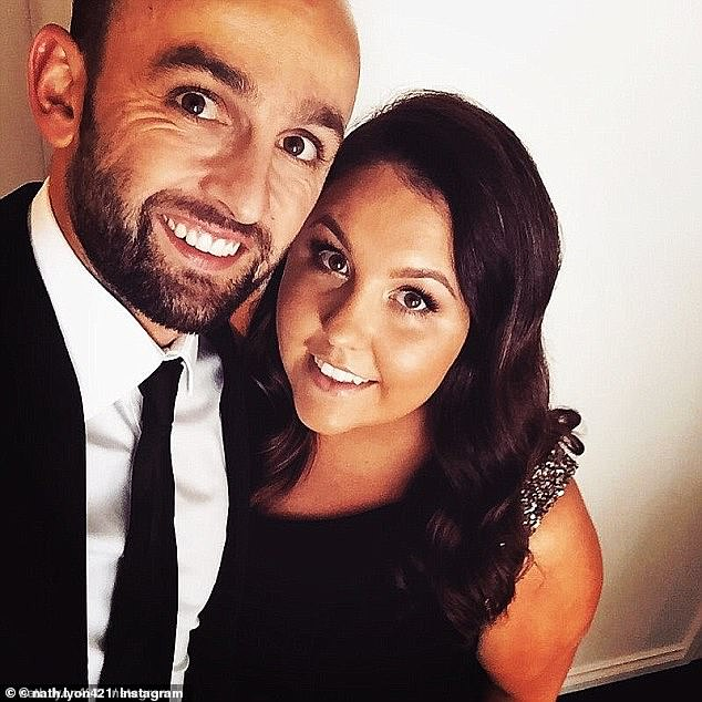 Australian cricketer Nathan Lyon is trying to sell the waterfront mansion he shared with ex-parter Mel Waring (right) before leaving her for blonde beauty Emma McCarthy