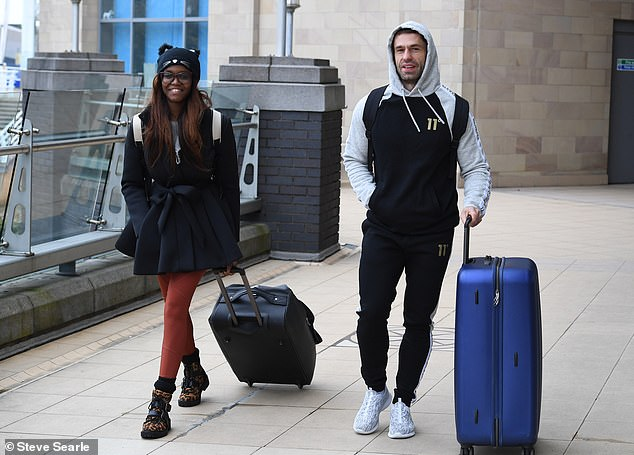 Dream team: Former soap star Kelvin soared to the top of the leaderboard with pro Oti Mabuse on the BBC competition series in the opening week (pictured together on Thursday)