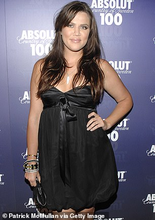 Khloe used to be fuller, but was always stunning, and dress in cute party clothes; seen in April 2008