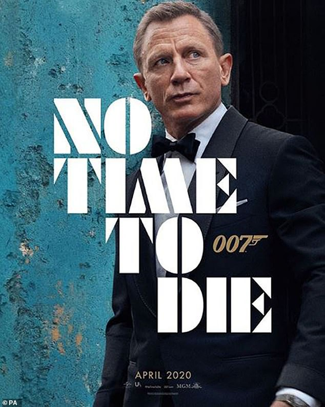 Band is back: Daniel Craig, 51, looks dapper as 007 in FIRST POSTER for No Time To Die