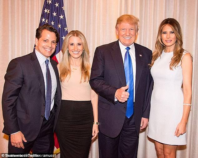 Anthony Scaramucci and President Trump are all smiles with their wife. Today, Scaramucci is in attack mode against his former boss and says 'there's a little bit of sadness for the country'