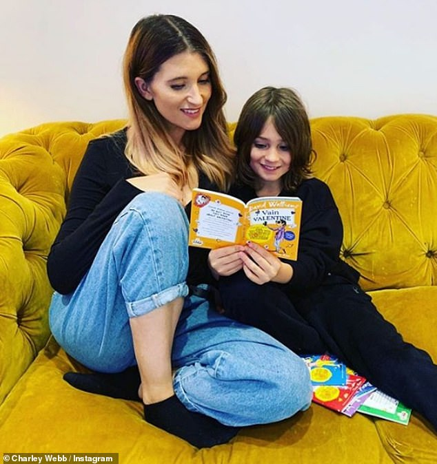 Story time: However, Charley insisted that she's always home to read a bedtime story to her boys after a 12 hour shoot day