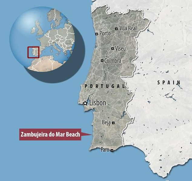 That particular stretch of beach in the Zambujeira do Mar area has no lifeguard service after September 15