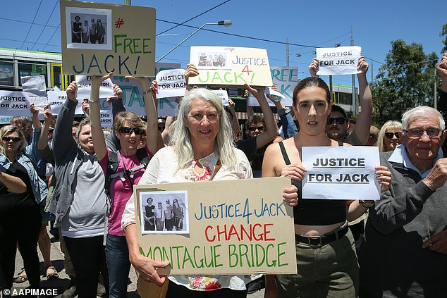 Aston's family, friends and the wider community rallied together to form a 'Free Jack' movement, calling for his release