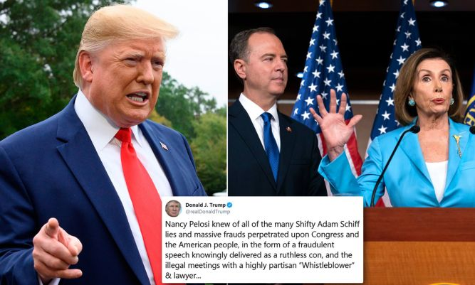 Image result for TrumP, pELOSI, aDAM sCHIFF