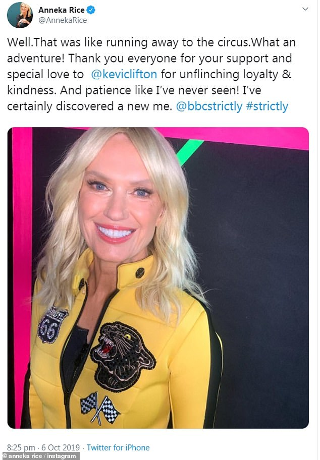 The feeling's mutual:Anneka, best know for her presenting roles on Treasure Hunt and Challenge Anneka - later returned the compliment by crediting Clifton following their exit