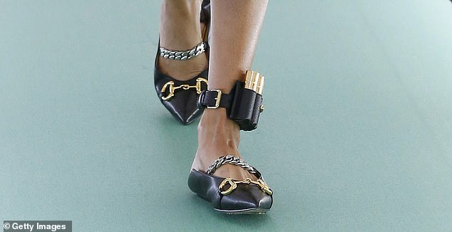 Gucci has been mocked after they debuted a shoe from their new collection which featured a leather ankle bracelet reminiscent of an electronic tag.