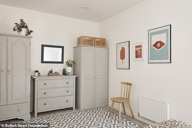 The young professionals upcycled existing furniture with a simple lick of chalk paint, giving them a brand new look including painting old furniture to trendy chalk