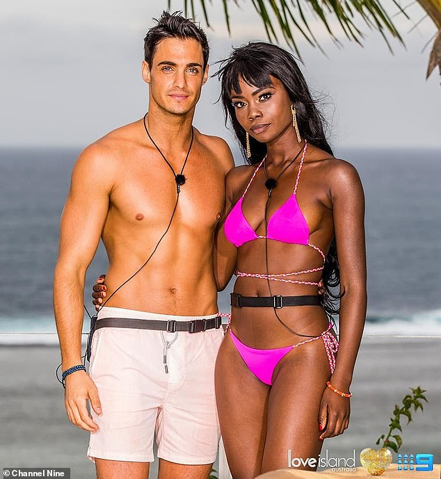 On the shelf!The West African-born 23-year-old ended up with Sam Withers (left) by default when she was the last female contestant without a partner
