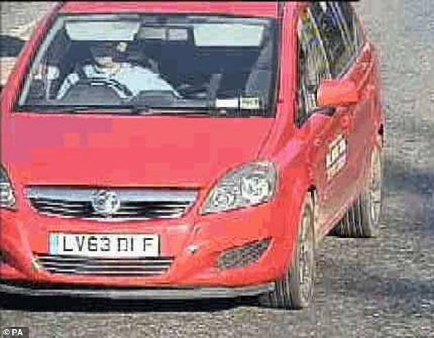 Prosecutors say movements of a taxi they believe is Lacomba's after Ms Wellgreen went missing show he was her killer, despite her not having been found. Pictured: Lacomba's car