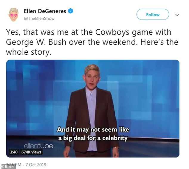 The comedian posted a clip from Tuesday's pre-recorded show to Twitter where she addressed the tweetstorm that came her way