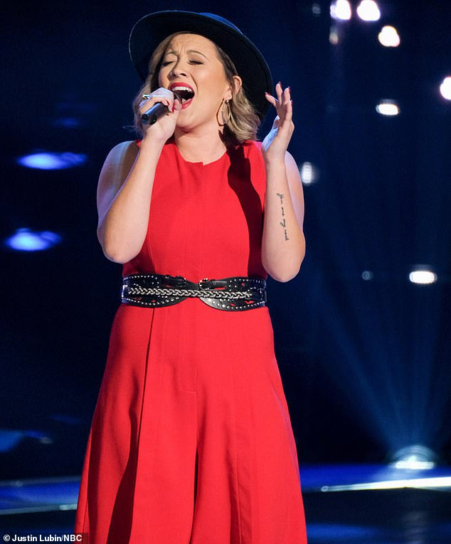 She's back: Lauren Hall, 25, said she had been auditioning for The Voice for seven years, with Monday's episode being the first time she made it past the open calls