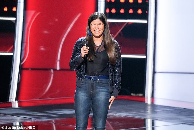 Three chairs: The Miami singer picked Blake to be her coach over Gwen and Kelly