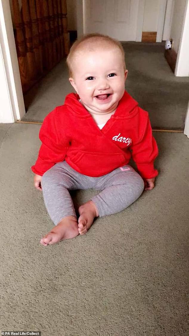 Kristian, who adored Darcy and had helped care for her since she was 18 months old, said: 'We spoke to her like an adult about her condition. We wanted to make sure she was comfortable and understood what was going on' Pictured: Bea in a hoodie from Love Darcy Clothing