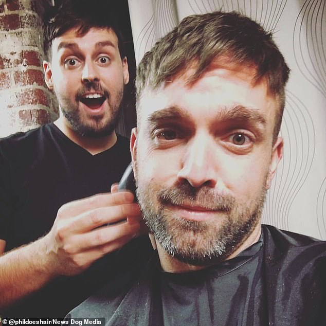 The hairdresser's  before-and-after clips on TikTok have amassed a whopping 200 million views. Pictured, in his New York salon
