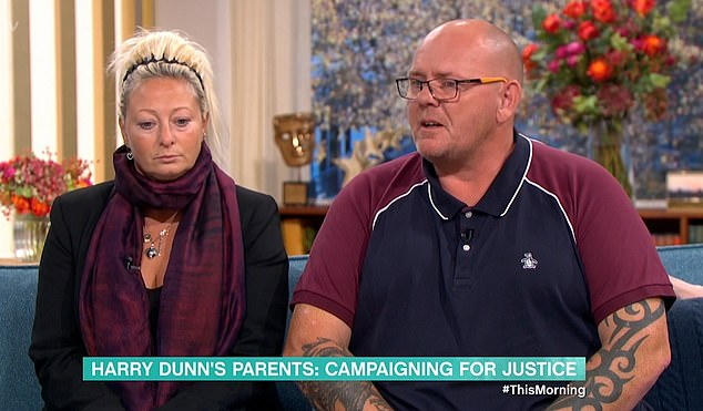 Harry Dunn's parents, Charlotte, left, and Tim, appeared on This Morning to beg the woman accused of killing him to return to Britain to face justice