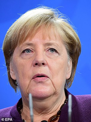 In a crunch moment for negotiations, the PM and German Chancellor Angela Merkel (pictured in Berlin yesterday) clashed brutally in an early morning phone call