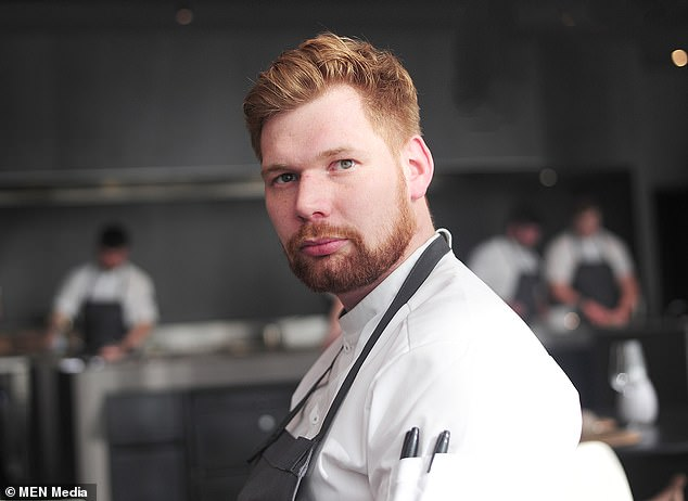 Tweeting about the news this morning, chef-patron Simon Martin (pictured) said: 'Can¿t describe how I feel right now after being awarded a @MichelinGuideUK star for mana