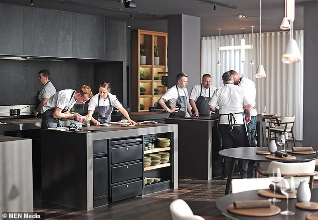 Tops chefs across the UK and Ireland woke up in anticipation at the start of this week as the world renowned Michelin guide was announced. After months of waiting, 29 restaurants have gained a prestigious star, including Mana in Manchester, scooping up the city's first star since 1977. Pictured: The interior view of Mana