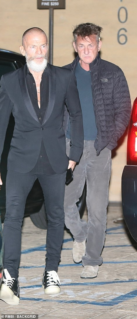 On the guestlist? Sean Penn was spotted leaving Nobu, where Simon hosted his celeb-packed dinner