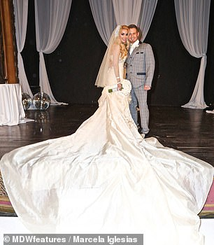 Partner: Marcella married her husband Steven, pictured, 10 years ago