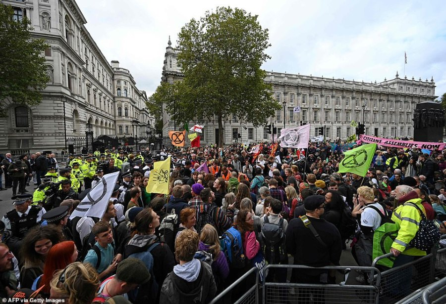 Hoards of people were seen in central London today as many gathered to protest across 12 sites in the city. The group have also announced plans to continue strikes at London City Airport