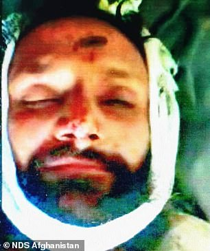 Omar (pictured) died in a raid in southern Helmand, it emerged today