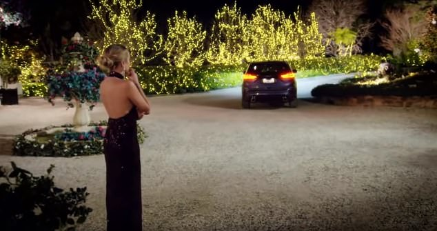 Drama!Angie appeared emotional at one stage, after sending home a mystery man while tearing up as he drove away from the mansion