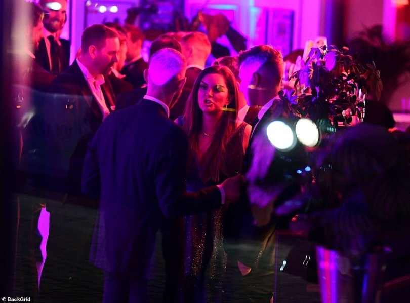 Face to face: The couple at theProfessional Cricketers' Association bash in London last week in animated conversation